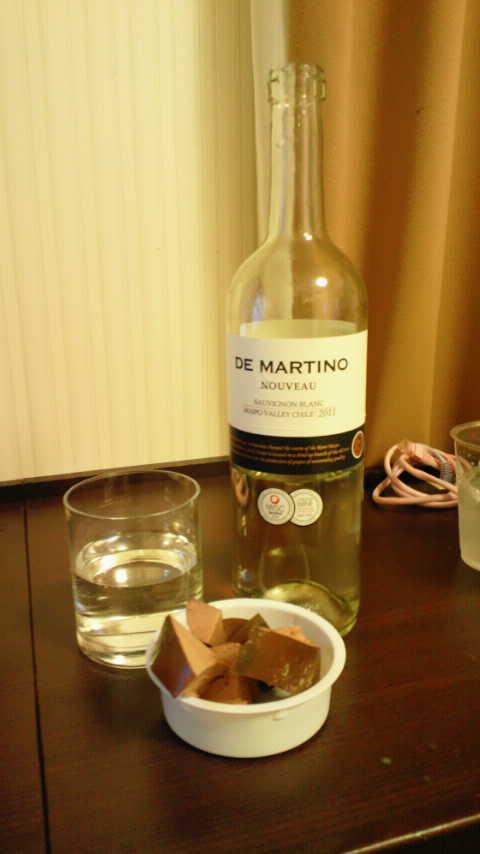 スモークレバーとチリワイン