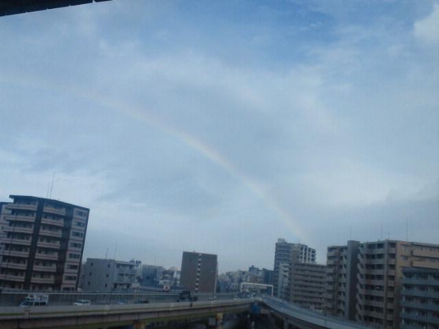 昨日見た虹